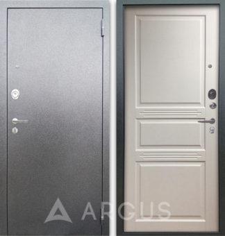 Металлическая сейф-дверь Аргус Люкс ПРО 3К Серебро антик Джулия-2 Эмаль Белый жемчуг