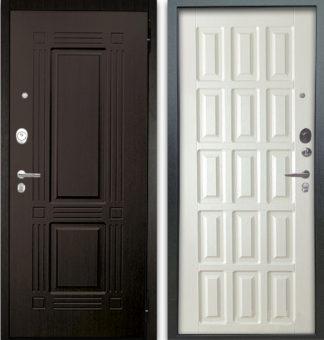Сейф-дверь Аргус Люкс АС 2П Триумф Венге/Голд Белое дерево