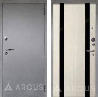 Заказать в Москве дверь для квартиры Аргус Люкс ПРО 3К Серебро антик Дуэт Белое дерево