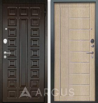 Сейф-дверь с молдингами Аргус Люкс АС 2П Сенатор Венге/Фриза Капучино