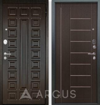 Дверь с молдингами Аргус Люкс АС 2П Сенатор Венге/Фриза Венге тисненый