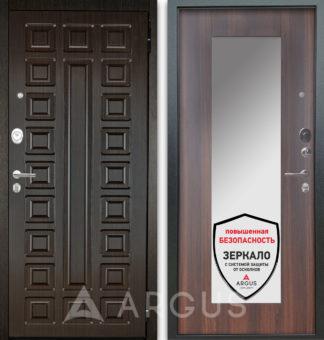 Дверь с зеркалом Аргус Люкс АС 2П Сенатор Венге/Милли Коньяк Калифорния