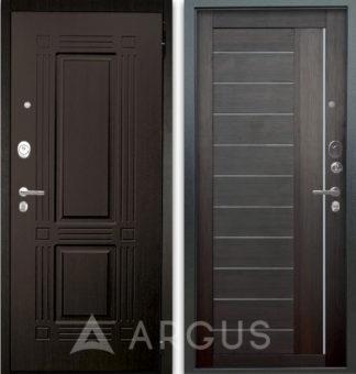 Дверь со вставками из стекла Аргус Люкс АС 2П Триумф Венге/Диана Вельвет