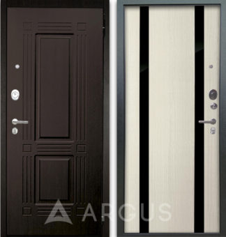 Белая дверь Аргус Люкс АС 2П Триумф Венге/Дуэт Белое дерево