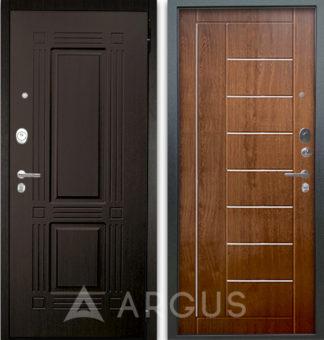 Стальная дверь Аргус Люкс АС 2П Триумф Венге/Фриза Дуб золотой