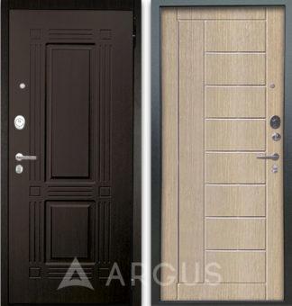 Сейф-дверь с молдингами Аргус Люкс АС 2П Триумф Венге/Фриза Капучино