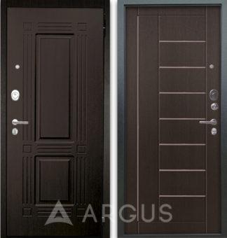 Дверь с молдингами Аргус Люкс АС 2П Триумф Венге/Фриза Венге тисненый