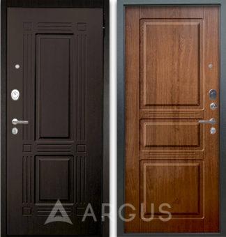 Дверь стальная Аргус Люкс АС 2П Триумф Венге/Сабина Дуб золотой