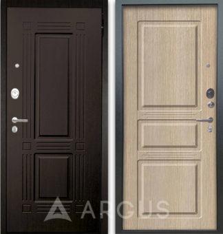 Входная стальная дверь Аргус Люкс АС 2П Триумф Венге/Сабина Капучино