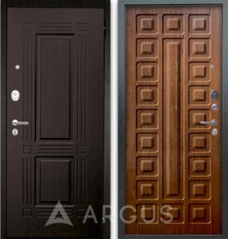 Входная дверь Аргус Люкс АС 2П Триумф Венге/Сенатор Дуб золотой