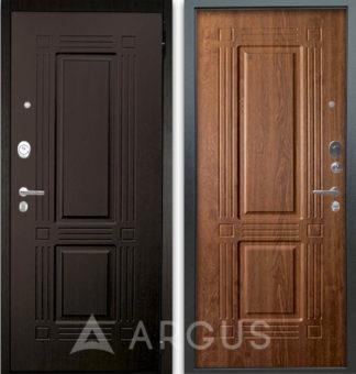 Дверь Аргус Люкс АС 2П Триумф Венге/Триумф Дуб золотой