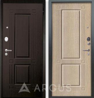 Входная светлая дверь Аргус Люкс АС 2П Триумф Венге/Триумф Капучино