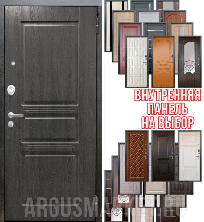 Входная дверь Аргус Люкс АС 2П Сабина Дуб Филадельфия графит - панель на выбор