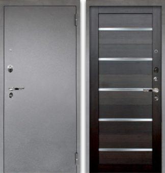 Черная дверь со стеклом Аргус Люкс ПРО 3К Серебро антик АЛЕКСАНДРА ВЕЛЬВЕТ