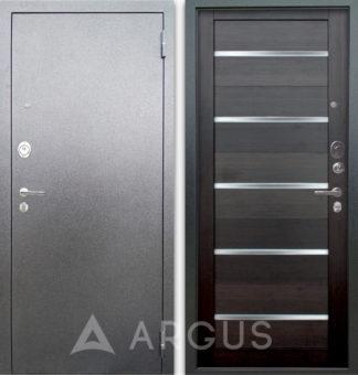 Сейф-дверь со стеклом Аргус Люкс АС Серебро антик Александра Вельвет