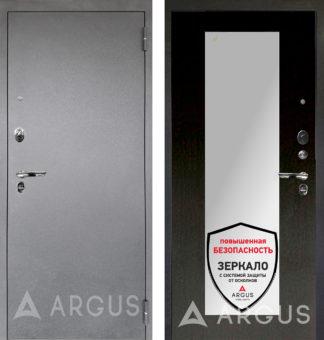 Входная черная дверь с зеркалом Аргус Люкс ПРО 3К Серебро антик МИЛЛИ ВЕНГЕ