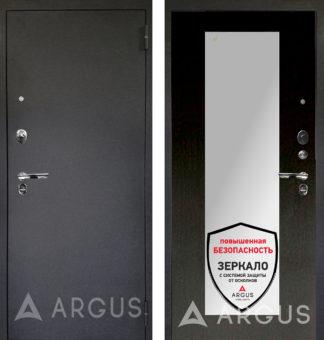 Металлическая входная дверь с зеркалом Аргус Люкс ПРО 3К Черный шелк МИЛЛИ ВЕНГЕ