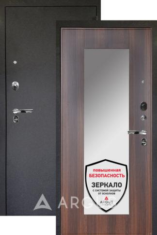Сейф-дверь с зеркалом Аргус Люкс ПРО 3К Черный шелк МИЛЛИ КОНЬЯК КАЛИФОРНИЯ