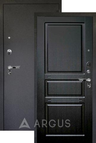 Входная дверь Аргус Люкс ПРО 3К Черный шелк САБИНА ВЕНГЕ ТИСНЕНЫЙ