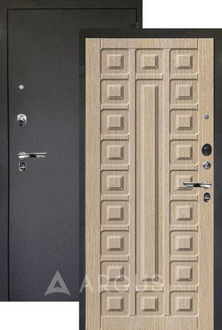 Дверь Аргус Люкс ПРО 3К Черный шелк СЕНАТОР КАПУЧИНО