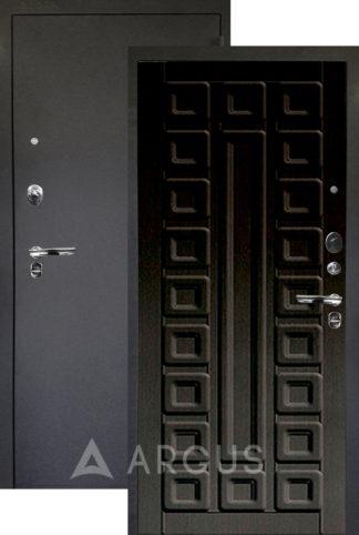 Входная черная дверь Аргус Люкс ПРО 3К Черный шелк СЕНАТОР ВЕНГЕ ТИСНЕНЫЙ