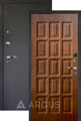 Дверь металлическая Аргус Люкс ПРО 3К Черный шелк ШОКОЛАД ДУБ ЗОЛОТОЙ