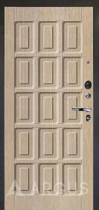 Белая входная дверь Аргус Люкс ПРО Черный шелк ШОКОЛАД КАПУЧИНО