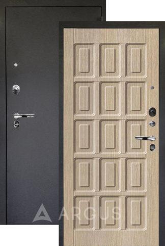 Белая входная дверь Аргус Люкс ПРО 3К Черный шелк ШОКОЛАД КАПУЧИНО