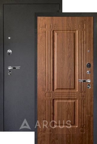 Входная дверь Аргус Люкс ПРО 3К Черный шелк ТРИУМФ ДУБ ЗОЛОТОЙ