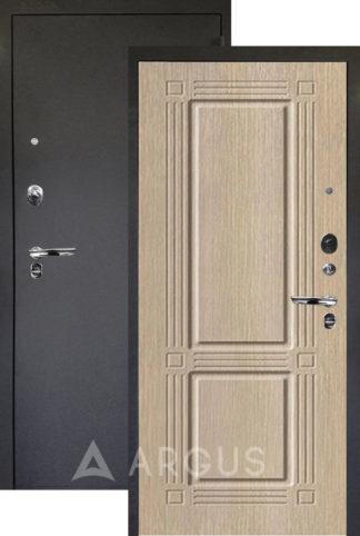 Металлическая дверь Аргус Люкс ПРО 3К Черный шелк ТРИУМФ КАПУЧИНО