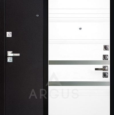 Металлическая входная дверь со стеклом Аргус ДА-92