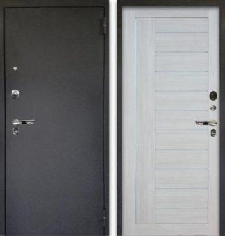 Белая входная дверь с молдингами Аргус Люкс ПРО 3К Черный шелк ДИАНА БУКСУС