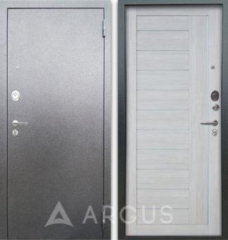 Сейф-дверь со стеклом и молдингами Аргус Люкс АС Серебро антик Диана Буксус