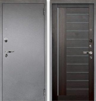 Черная дверь со стеклом Аргус Люкс ПРО 3К Серебро антик ДИАНА ВЕЛЬВЕТ