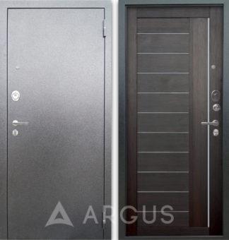 Черная входная дверь Аргус Люкс АС Серебро антик Диана Вельвет