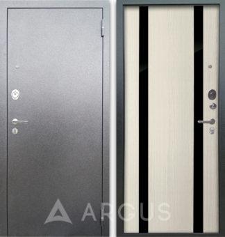 Сейф-дверь белая Аргус Люкс АС Серебро антик Дуэт Белое дерево
