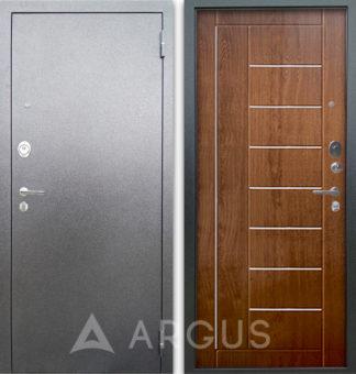 Входная дверь Аргус Люкс АС Серебро антик Фриза Дуб золотой