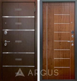 Сейф-дверь с молдингами Аргус Люкс АС 2П Лайн Венге/Фриза Дуб золотой