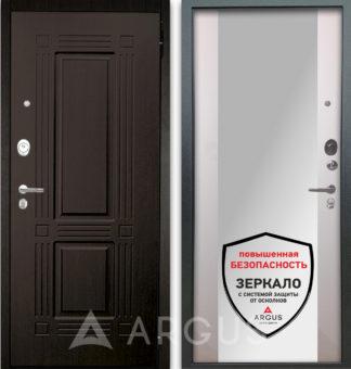 Сейф-дверь с зеркалом Аргус Люкс АС 2П Триумф Венге/Вояж Белое дерево