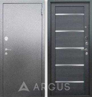 Железная сейф дверь со стеклом Аргус Люкс 3К Серебро антик Александра Лунная ночь