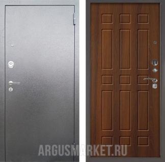 Металлическая входная дверь Аргус Люкс 3К Серебро антик Брас Дуб рустикальный