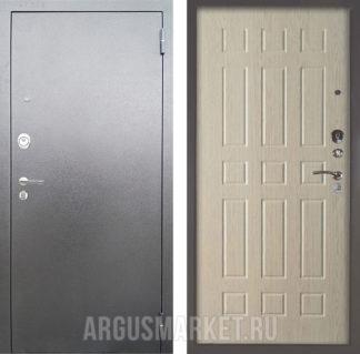 Входная стальная дверь Аргус Люкс 3К Серебро антик Брас Ларче светлый
