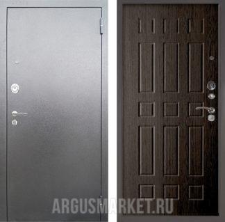 Железная входная сейф дверь Аргус Люкс 3К Серебро антик Брас Венге тисненый