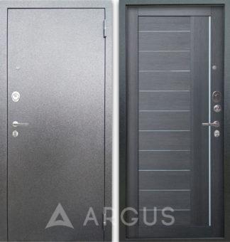 Железная сейф дверь со стеклом и молдингами Аргус Люкс 3К Серебро антик Диана Лунная ночь