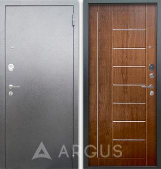 Сейф дверь с молдингами Аргус Люкс 3К Серебро антик Фриза Дуб золотой