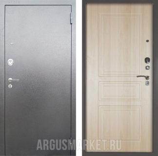 Заказать металлическую дверь Аргус Люкс 3К Серебро антик Гаральд Ларче светлый в Москве