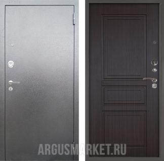 Металлическая сейф дверь Аргус Люкс 3К Серебро антик Гаральд Венге