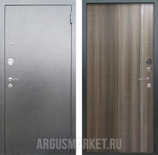 Стальная сейф дверь с молдингом и 3д структурой Аргус Люкс 3К Серебро антик Гауда Керамика