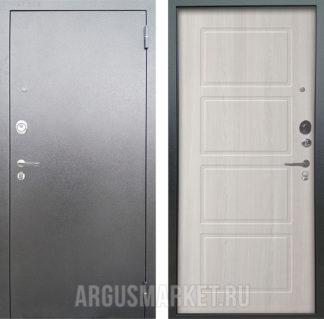 Входная сейф дверь Аргус Люкс 3К Серебро антик Геометрия Ларче светлый