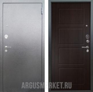 Стальная входная дверь Аргус Люкс 3К Серебро антик Геометрия Венге